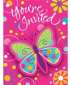Butterfly Sparkle Invitations