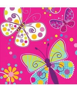 Butterfly Sparkle Party Napkins