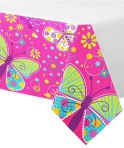 Butterfly Sparkle Themed Party Plastic Tablecover