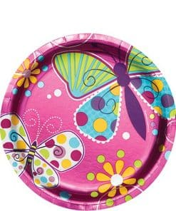 Butterfly Sparkle Themed Party Paper Plates