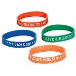 Football Attitude Bracelets (12pk)
