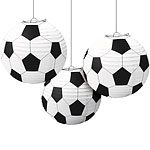 Football Party Paper Lanterns - 24cm (3pk)
