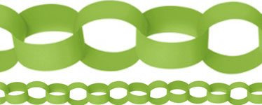 Kiwi Lime Green Paper Chain Garland Decoration - 3.9m