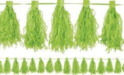 Kiwi Lime Green Tassel Garland Decoration - 3m