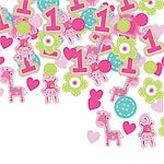 Wild at One Girl's 1st Birthday Party Tabel Confetti 34g