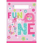Wild at One Girl's 1st Birthday Party Bags (8pk)
