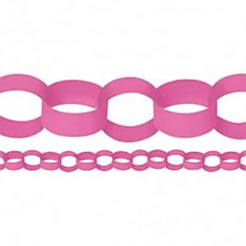 Pink Paper Chain Garland Decoration