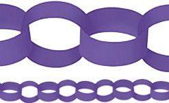 Purple Paper Chain Garland Decoration - 3.9m