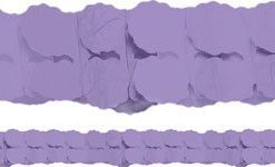 Purple Paper Garland Decoration - 3.7m