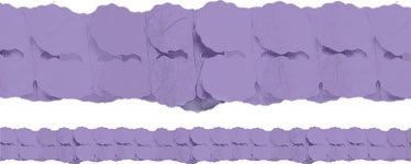 Purple Paper Garland Decoration - 3.7m