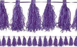 Purple Tassel Garland Decoration - 3m