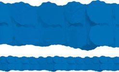 Royal Blue Paper Garland Decoration - 3.7m