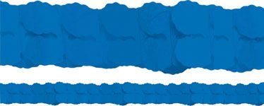 Royal Blue Paper Garland Decoration - 3.7m