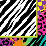 Totally 1980s Paper Party Napkins - 2ply (16pk)