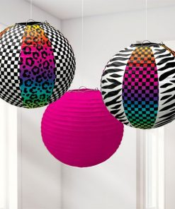 Totally 80's Party Paper Lanterns