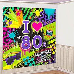 Totally 1980s Scene Setter - Wall Decorating Kit