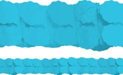 Turquoise Blue Paper Garland Decoration - 3.7m