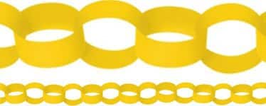 Yellow-Paper-Chain-Garland