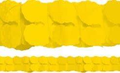 Yellow Paper Garland Decoration - 3.7m