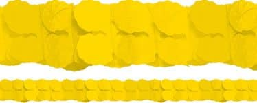 Yellow Paper Garland Decoration - 3.7m