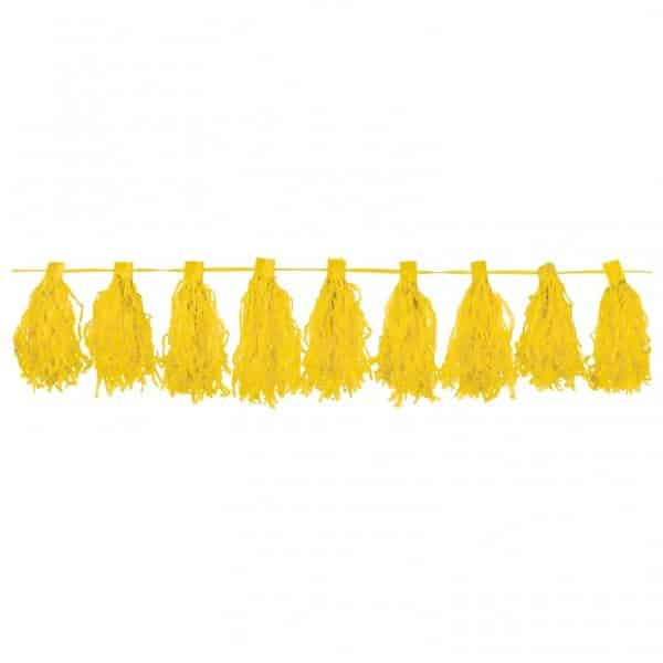 Yellow Tassel Garland Decoration