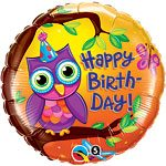 Owls Themed Party Foil Balloon 18""