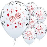 "Cards & Dice Printed Latex Balloons - 11"" (25pk)"