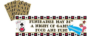 casino night giant banner
