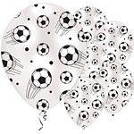 Football Party Printed Latex Balloons - 11'' (6pk)