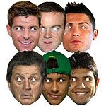 Football party World Stars Mask Pack (6pk)