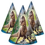 Jurassic World Party Cone Hats Pk 8