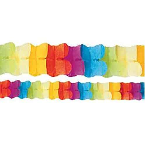 Multi Coloured Paper Garland Decoration