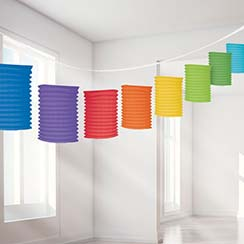 Rainbow Paper Lantern Garland Party Decoration - 3.7m