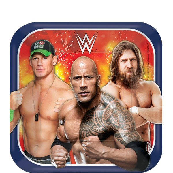 WWE Wrestling Party Paper Plates
