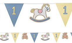 Rock A Bye Baby Party 1st Birthday Boys Party Bunting - 3.5m
