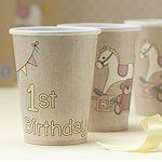 Rock A Bye Baby Party Paper 1st Birthday Cups (8pk)