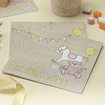 Rock A Bye Baby Party Paper 1st Birthday Napkins 3ply (20pk)