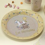 Rock A Bye Baby Party Paper 1st Birthday Plates 23cm (8pk)