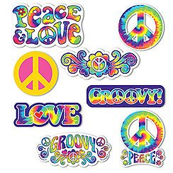 1960s Feeling Groovy Cutout Decorations (30pk)