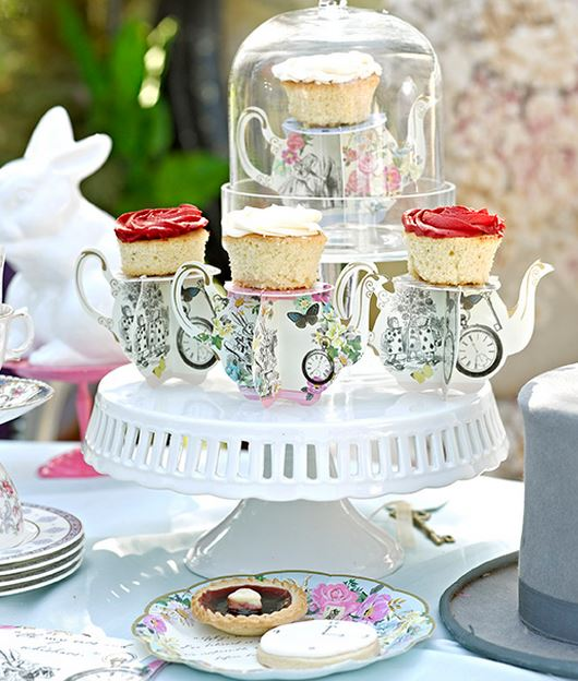 Alice In Wonderland Party Cake Stands