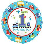 All Aboard 1st Birthday Party Foil Balloon - 18""