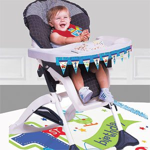 All Aboard 1st Birthday Party High Chair Decorating Kit