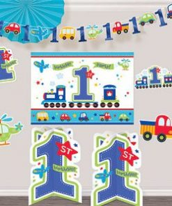 All Aboard 1st Birthday Party Room Decorating Kit