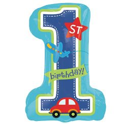 All Aboard 1st Birthday Party Supershape Foil Balloon - 28''