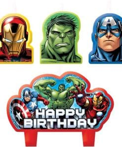 Avengers Party Birthday Cake Candles