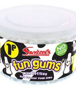 Tub of Fun Gum Milk Bottle Sweets (600pk)