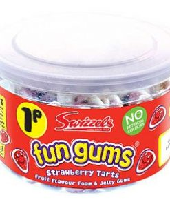Tub of Fun Gums Strawberry Tarts Sweets (600pk)