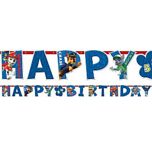 Paw Patrol Party Happy Birthday Banner 16m