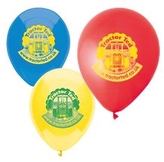 Tractor Ted Themed Printed Balloons
