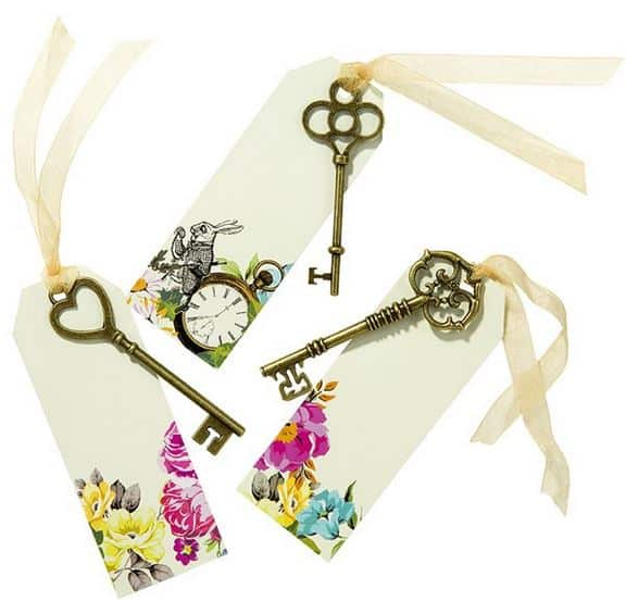 Truly Alice Curious Keys and tags